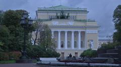 Sunset Petersburg - stock footage