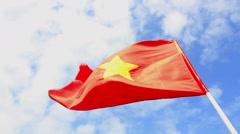 SKY VIETNAM FLAG Stock Footage