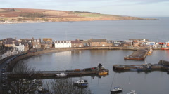 Timelapse of Stonehaven harbour Scotland Stock Footage