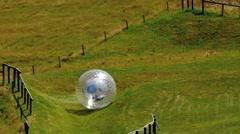 Rotorua Zorb Zorb Globe Riding Zorbing New Zealand 02 Stock Footage