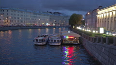 Petersburg River And City - stock footage
