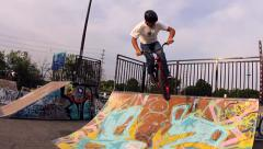 BMX Trick - 540 tail tap- Extreme Sports Stock Footage