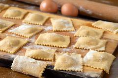 agnolotti pasta - stock photo