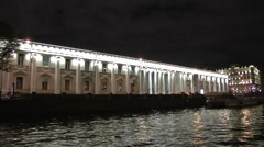 Petersburg River And Lighting - stock footage
