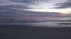 4K, Sunrise at early morning, Atlantic ocean Stock Footage