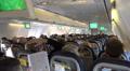 Passenger cabin inflight Boeing 737-800 holidays aeroplane Footage