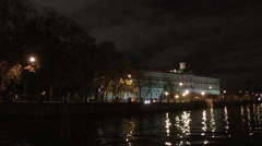 Petersburg City Nighttime Stock Footage