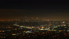 4K UltraHD A timelapse view over Los Angeles at night - stock footage
