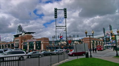 Comerica park home of the Detroit Tiger's Stock Footage