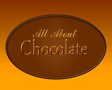 all about chocolate - stock illustration