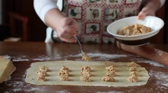 Preparing Agnolotti Pasta Stock Footage