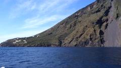 Stromboli volcano at eolie island, sicily, italy, Stock Footage