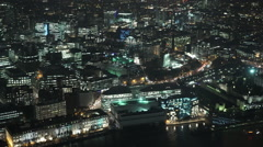 London City Lights East End by night Stock Footage