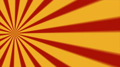 Retro Abstract Sunburst Background Loop Red Yellow Left - stock footage