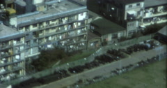 Tokyo 70s 16mm Skyline Aerial View Appartments Stock Footage