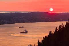 Landscape sunset scenery, norway fjord Stock Photos