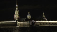 Petersburg Historical Buildings Close Up Stock Footage