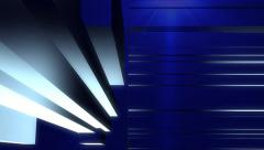 news style virtual studio abstract motion blue background - stock footage
