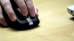 close up woman hand on mouse - stock footage