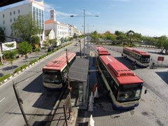 Time lapse of Rapid Penang public transportation Stock Footage