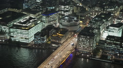 Stock Video Footage of London Bridge aerial view from The Shard