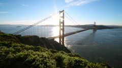 Motion Controlled Dolly Shot of Golden Gate Bridge in the Morning -Left Down- Stock Footage