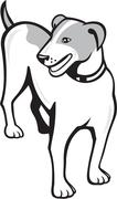 Stock Illustration of jack russell terrier standing cartoon.
