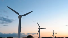 That is one of our furture energy: wind turbine Stock Footage