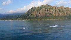 Windward coast,  oahu, hawaii Stock Footage