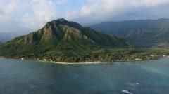 Kaaawa, windward coast,  oahu, hawaii Stock Footage