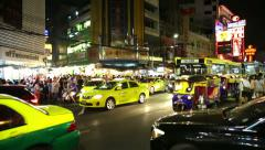 Bangkok Chinatown street time-lapse Stock Footage