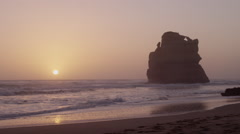 Sundown over Ocean featuring at 12 Apostle - Australian Outback Stock Footage