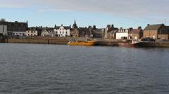 Stonehaven waterfront Scotland Stock Footage