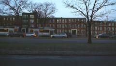 Trolley Racing Down Avenue Boston Stock Footage