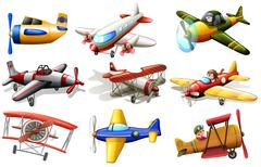 A group of planes - stock illustration