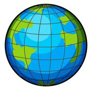 A globe - stock illustration