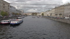 Petersburg River Russia Stock Footage