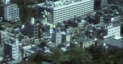 Tokyo 70s 16mm Skyline Aerial Skyline Appartments Stock Footage