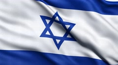 4K Flag of Israel seamless loop Ultra-HD Stock Footage