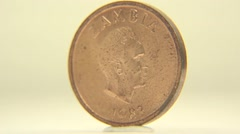 Two Ngwee Coin Stock Footage
