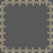 Floral Vector Pattern. Abstract Golden Frame Stock Illustration