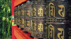 Tibetan prayer wheel spinning - 1080p Stock Footage