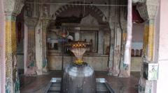 Huge Shiv linga, Varanasi, Bharat Stock Footage
