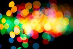 Intense colorful lights Stock Photos