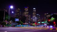 HD Downtown Los Angeles Traffic Intersection Timelapse Stock Footage