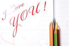 love declaration - stock photo