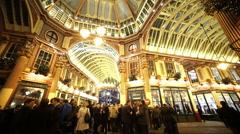 English Pub at Leadenhall Market London - stock footage
