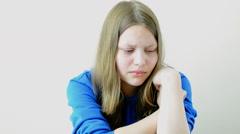 Stock Video Footage of Sad teen girl crying