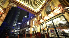 Wonderful Leadenhall Market London - stock footage