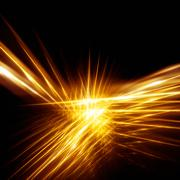 gold rays - stock illustration